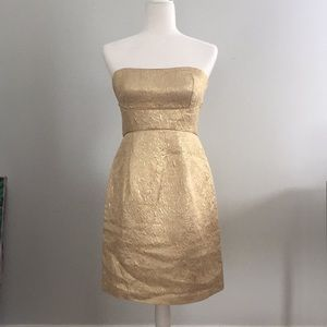 Max and Cleo gold cocktail dress